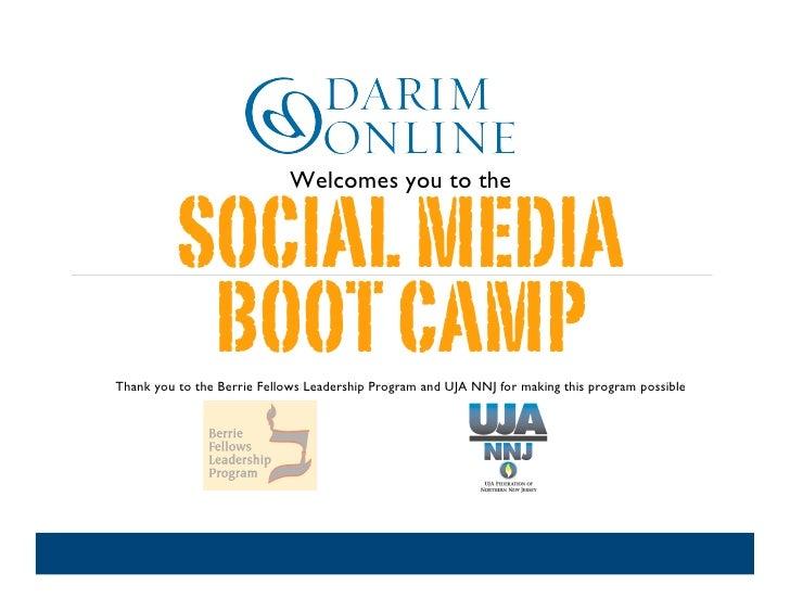 Northern NJ Social Media Boot Camp