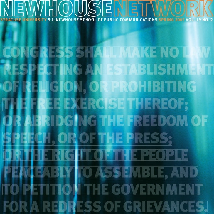 Newhouse Network magazine, spring 2007