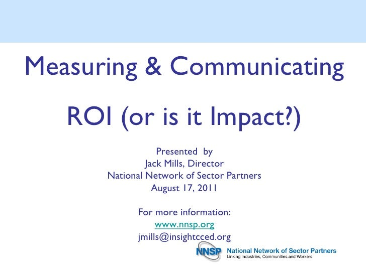 Measuring & Communication ROI by Jack Mills