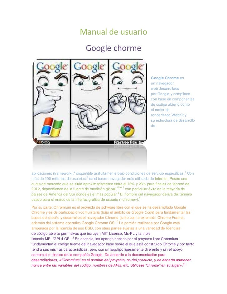 Manual de usuario                                Google chorme                                                            ...
