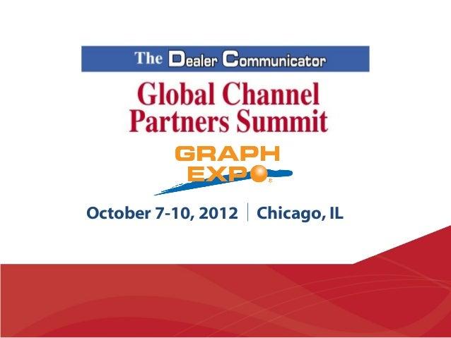 Dr Joe Webb - Global Channel Partners Summit 2012
