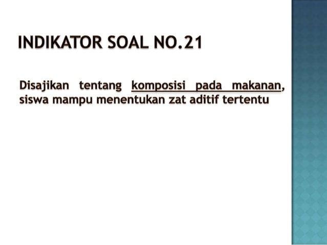 No 21 Soal Un 2012 Kimia Zat Aditif
