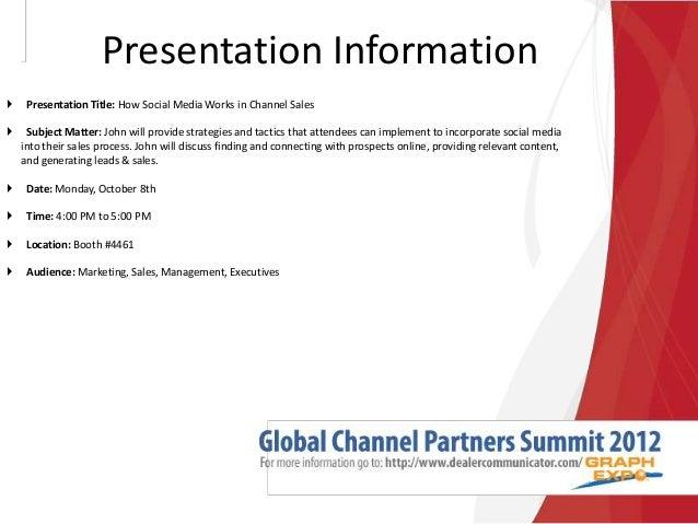 John Foley - Global Channel Partners Summit 2012
