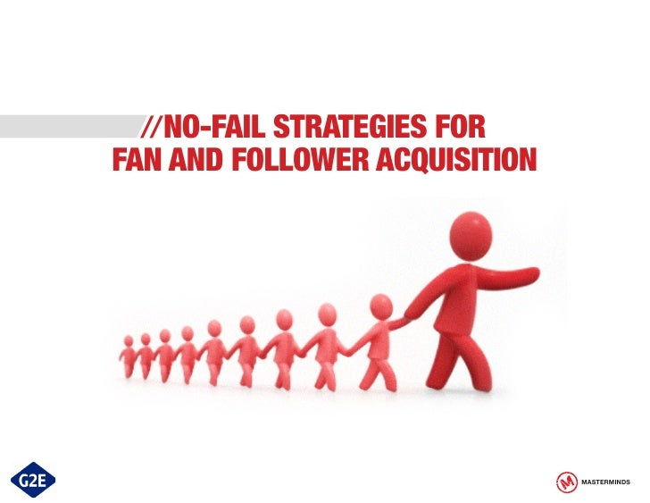 //NO-FAIL STRATEGIES FORFAN AND FOLLOWER ACQUISITION                               MASTERMINDS