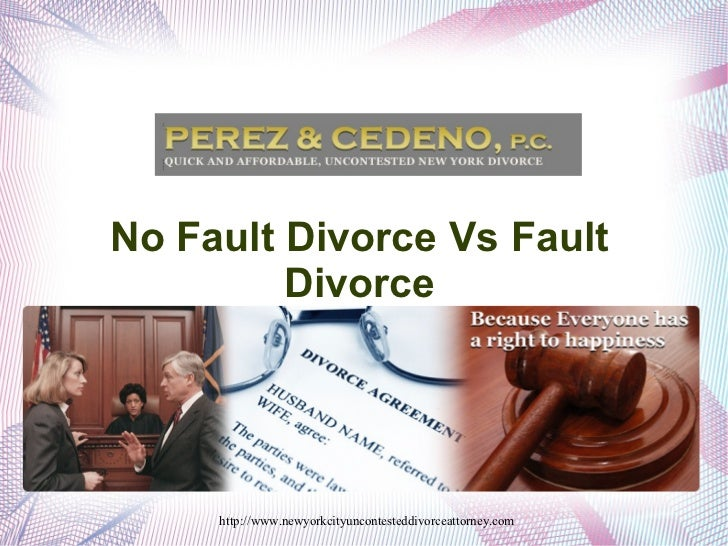 No Fault Divorce Vs Fault Divorce