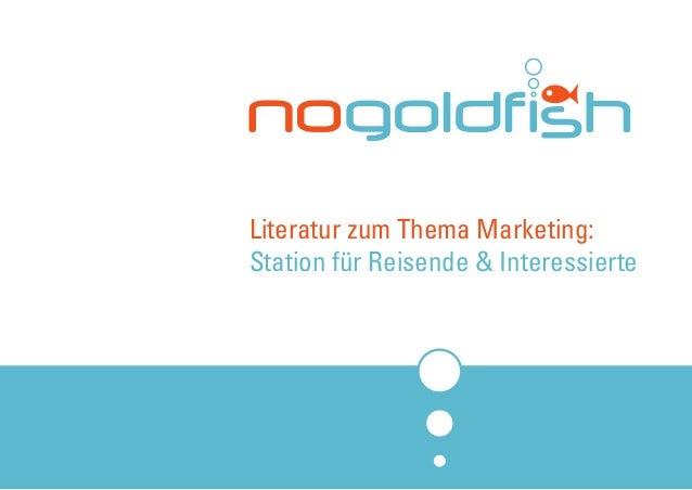 Literatur zum Thema Marketing: Station für Reisende & Interessierte
