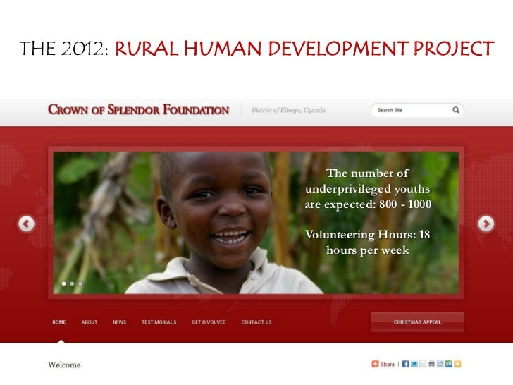 THE 2012: RURAL HUMAN DEVELOPMENT PROJECT                            The number of                        underprivileged ...