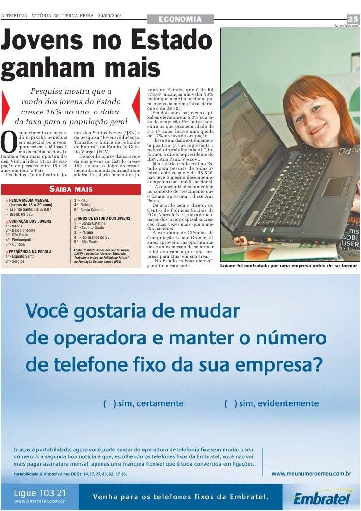 A TRIBUNA - VITÓRIA-ES - TERÇA-FEIRA - 30/09/2008                                                                         ...