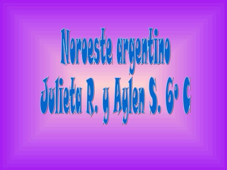 Noroeste argentino  Julieta R. y Aylen S. 6º C