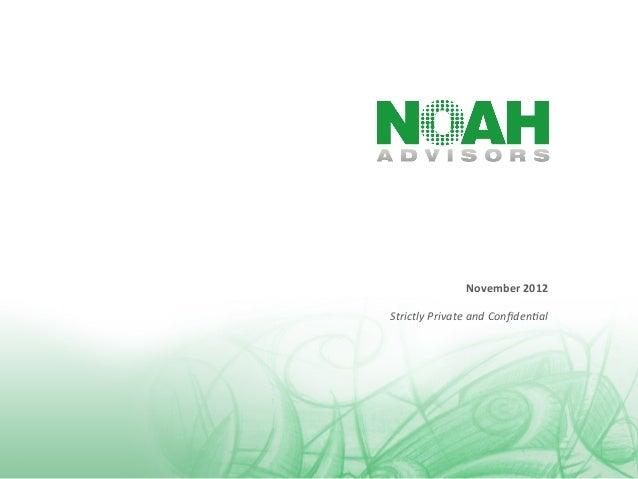 NOAH Advisors - NOAH12 London