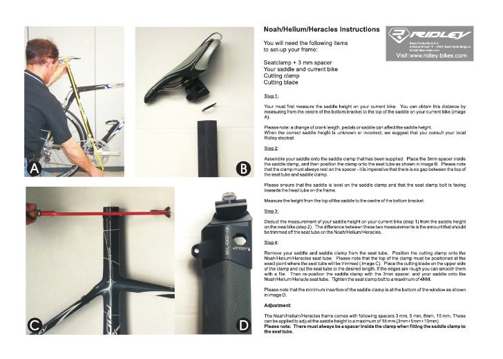 Ridley Seat Mast Cuttiing Instructions