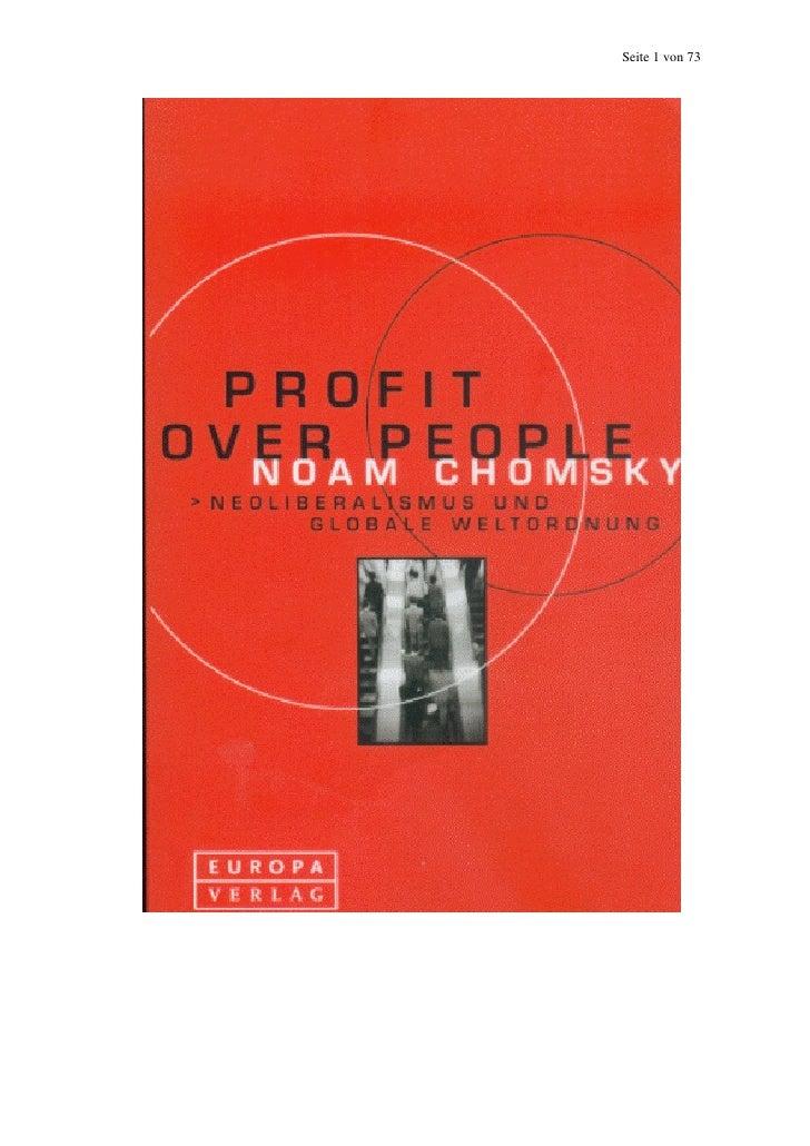 Noam chomsky   profit over people