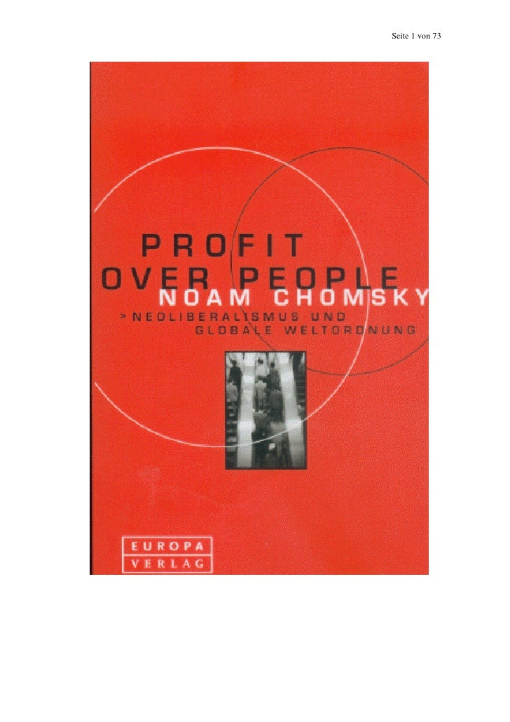 Noam chomsky   profit over people