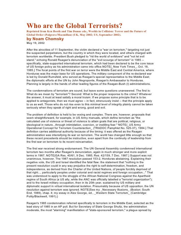 Noam chomsky   who are the global terrorists ( 2002.05.19 )