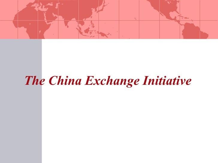 The China Exchange Initiative