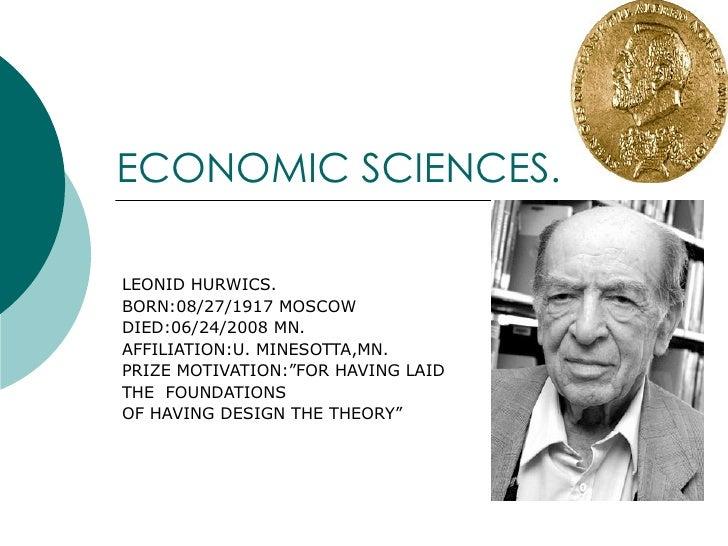 NOBEL PRIZE - ECONOMIC SCIENCES  (Part 2)