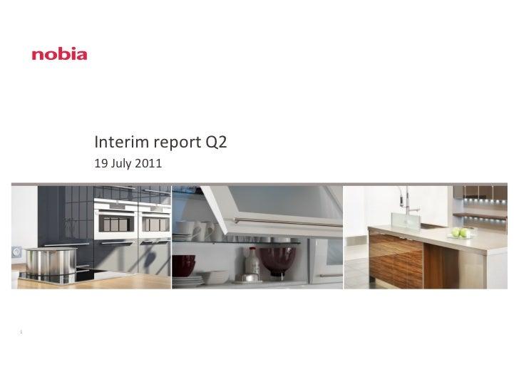 Nobia Interim Report Q2 2011-07-19