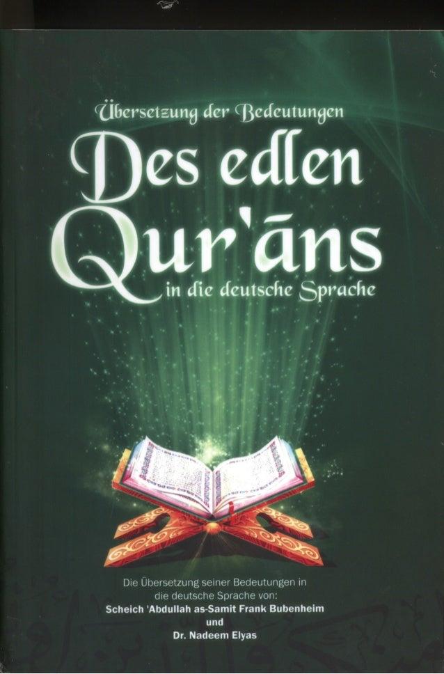 Nicht für den Verkauf      يُـهدى وال يُباعDer edle Quran    www.gratisquran.de    Info@gratisquran.de