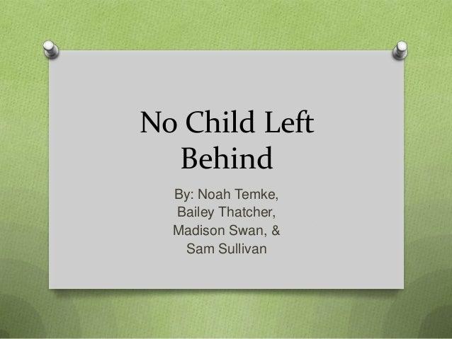 AHS 3: No child left behind