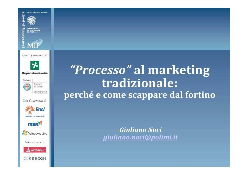 Presentazione Noci - Il Marketing del 3° Millennio, Riflessioni con Philip Kotler
