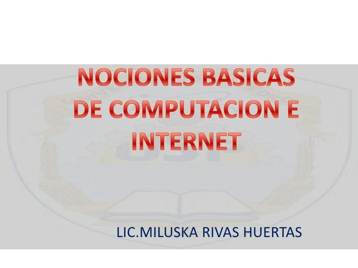 Nociones basicas de computación e internet