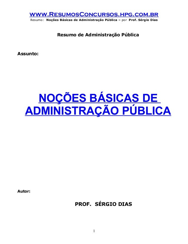 Nocoes administracao publica_sergio_dias