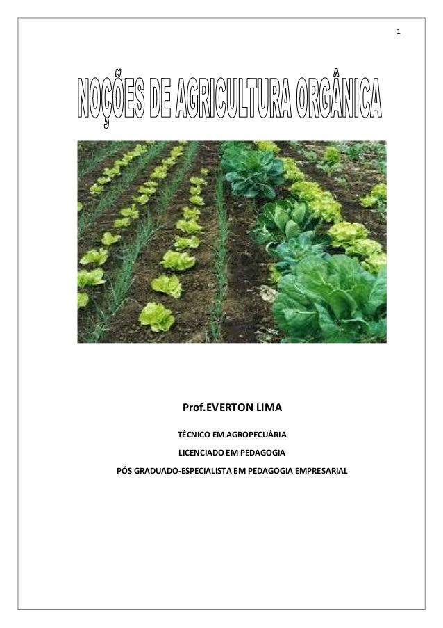 Nocoes de agricultura organica modulo i