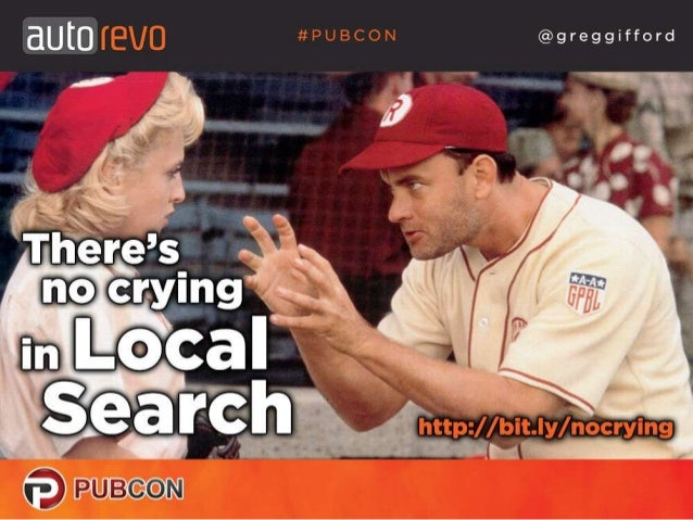 There's No Crying In Local Search