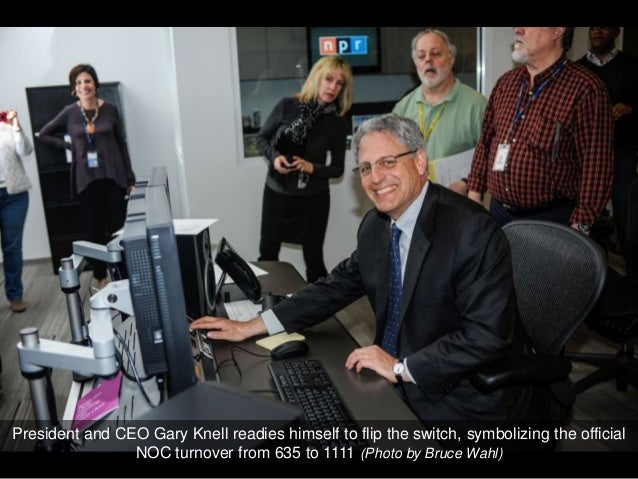 President and CEO Gary Knell readies himself to flip the switch, symbolizing the official                NOC turnover from...