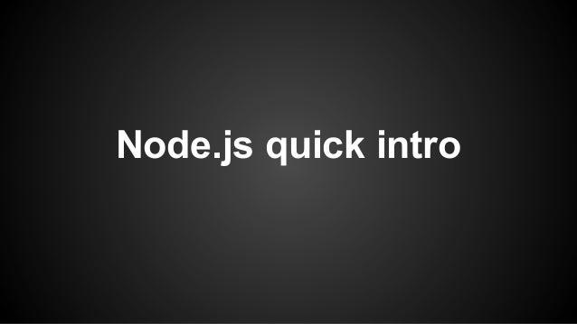 Node.js quick intro
