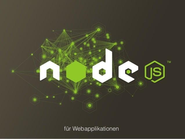 Webapplikationen mit Node.js