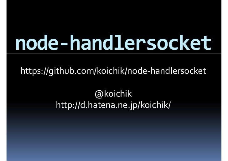 node-handlersocket