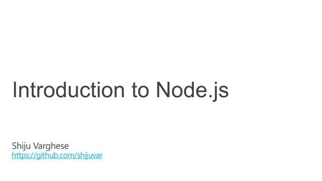 Introduction to Node js