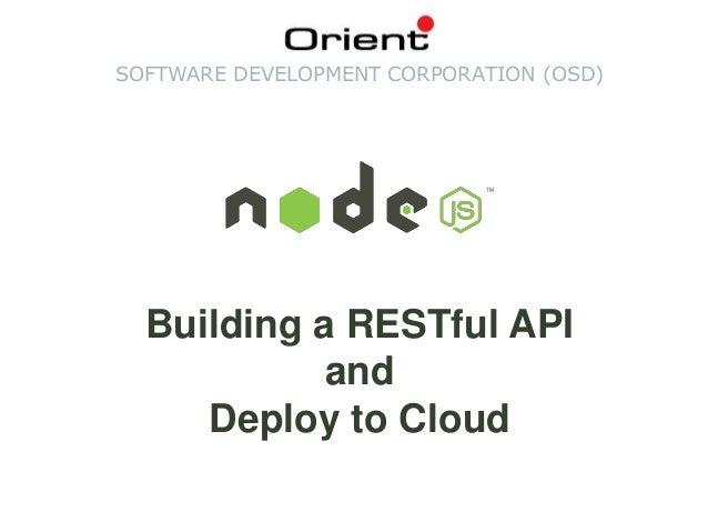 Nodejs - Building a RESTful API