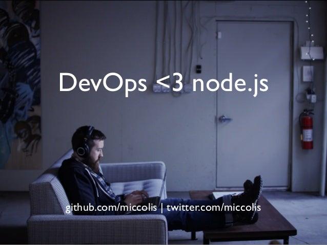 DevOps <3 node.js