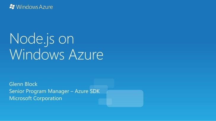 Node js on Windows Azure