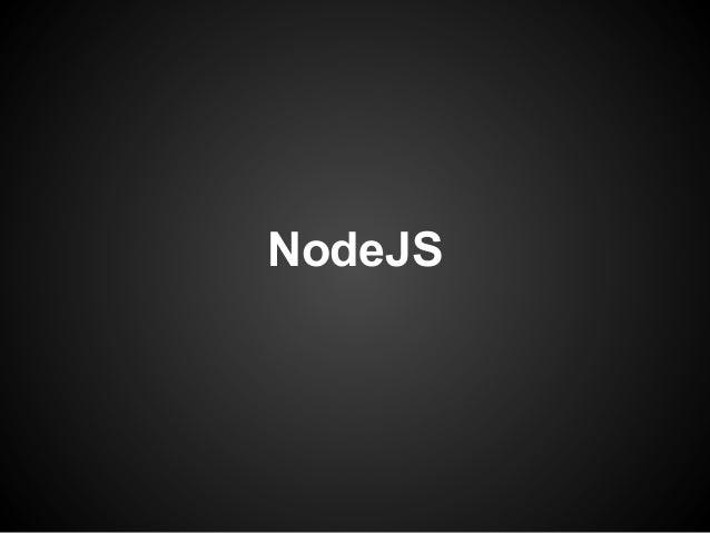 NodeJS overview