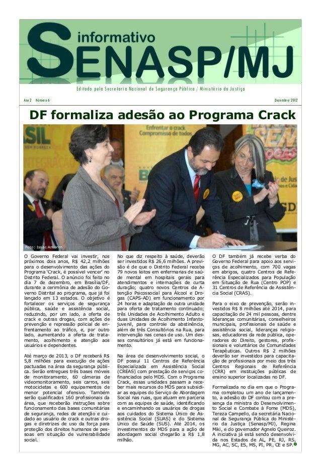 Informativo SENASP - Dezembro de 2012