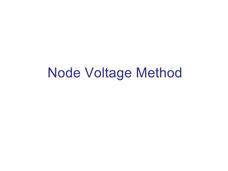 how to find a node in node volatge method