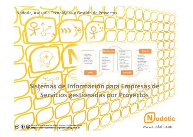 Sistemas de Información de Gestión para Organizaciones de Servicios gestionadas por Proyectos