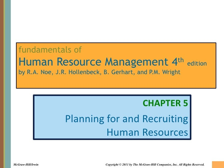 fundamentals of   Human Resource Management 4th edition   by R.A. Noe, J.R. Hollenbeck, B. Gerhart, and P.M. Wright       ...
