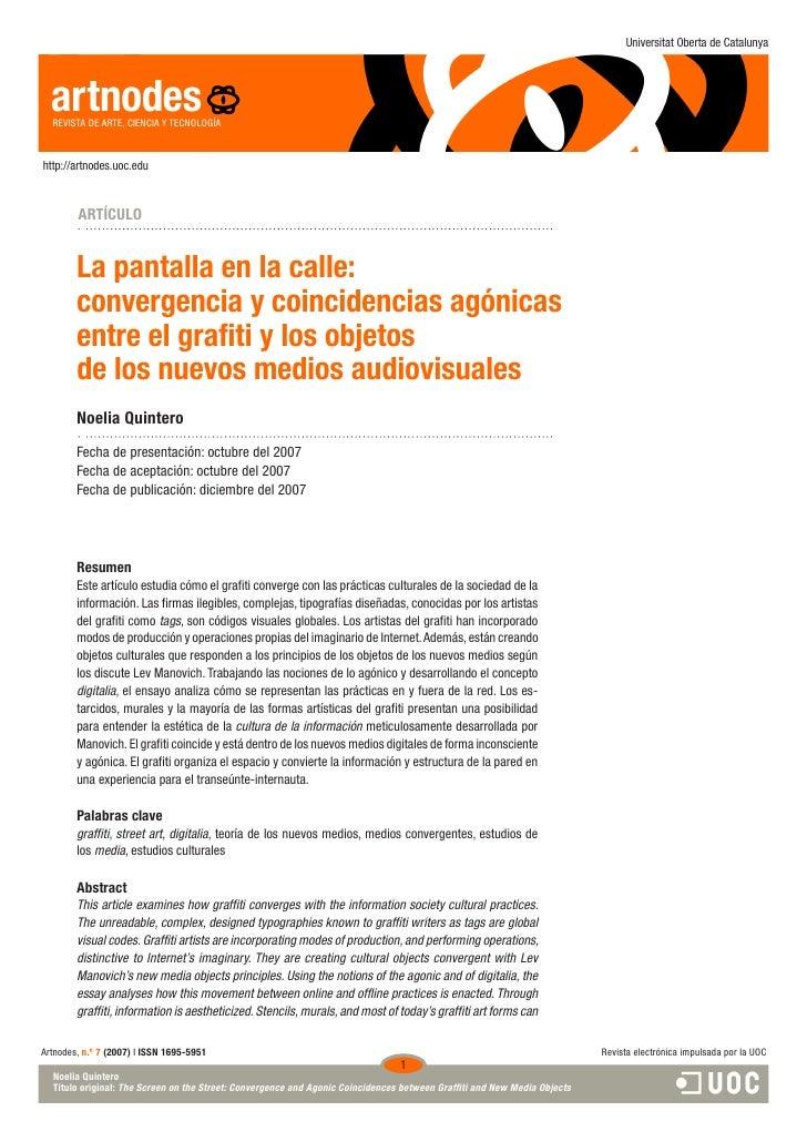 Universitat Oberta de Catalunya       artnodes   REVISTA DE ARTE, CIENCIA Y TECNOLOGÍA   http://artnodes.uoc.edu          ...