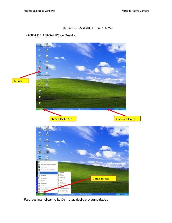 Noções básicas de windows
