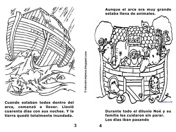 Cuando estaban todos dentro del arca, comenzó a llover. Llovió cuarenta días con sus noches. Y la tierra quedó totalmente ...