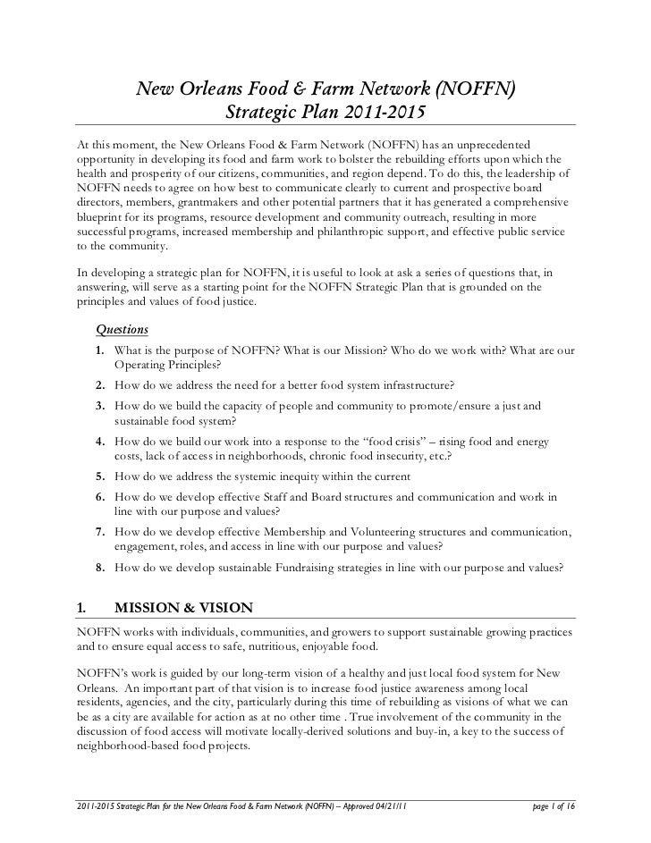 NOFFN Strategic Plan