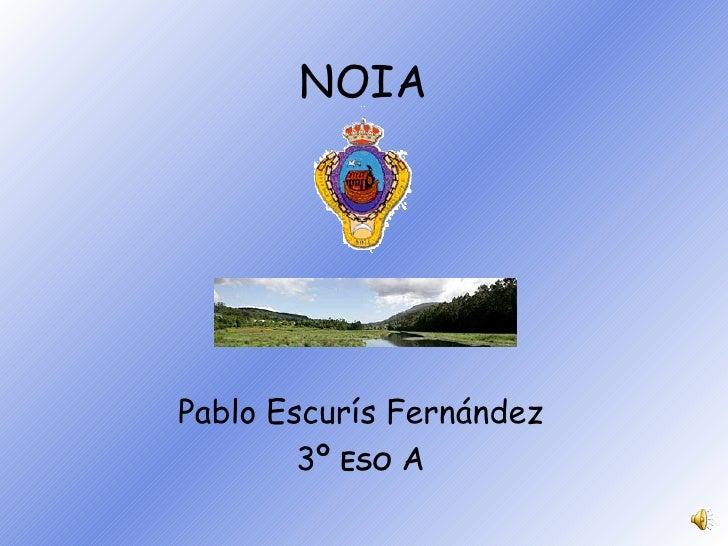 NOIA Pablo Escurís Fernández 3º  ESO  A