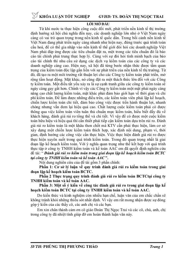 KHÓA LUẬN TỐT NGHIỆP                     GVHD: TS. ĐOÀN THỊ NGỌC TRAI                                   LỜI MỞ ĐẦU      T...