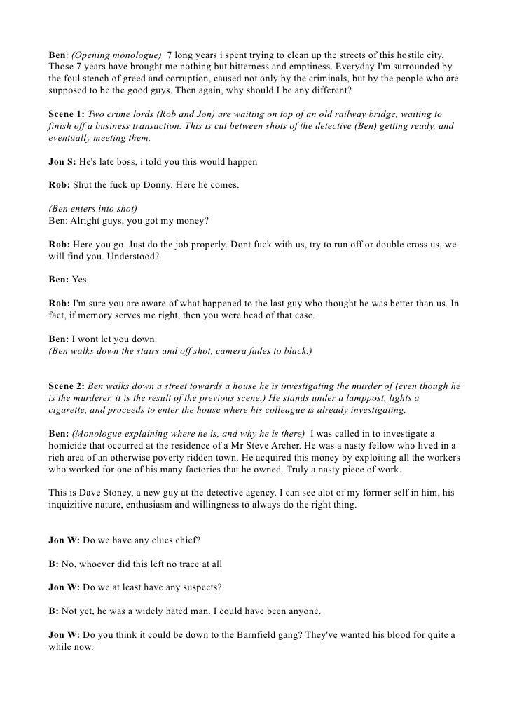 A2 Media Film Script
