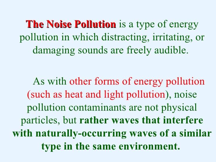 Essay noise pollution