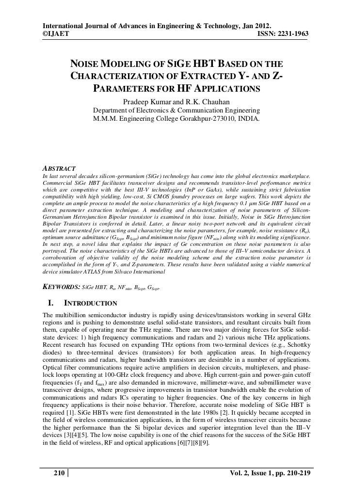 International Journal of Advances in Engineering & Technology, Jan 2012.©IJAET                                            ...